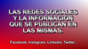 REDES SOCIALES INFORMACION PUBLICADA