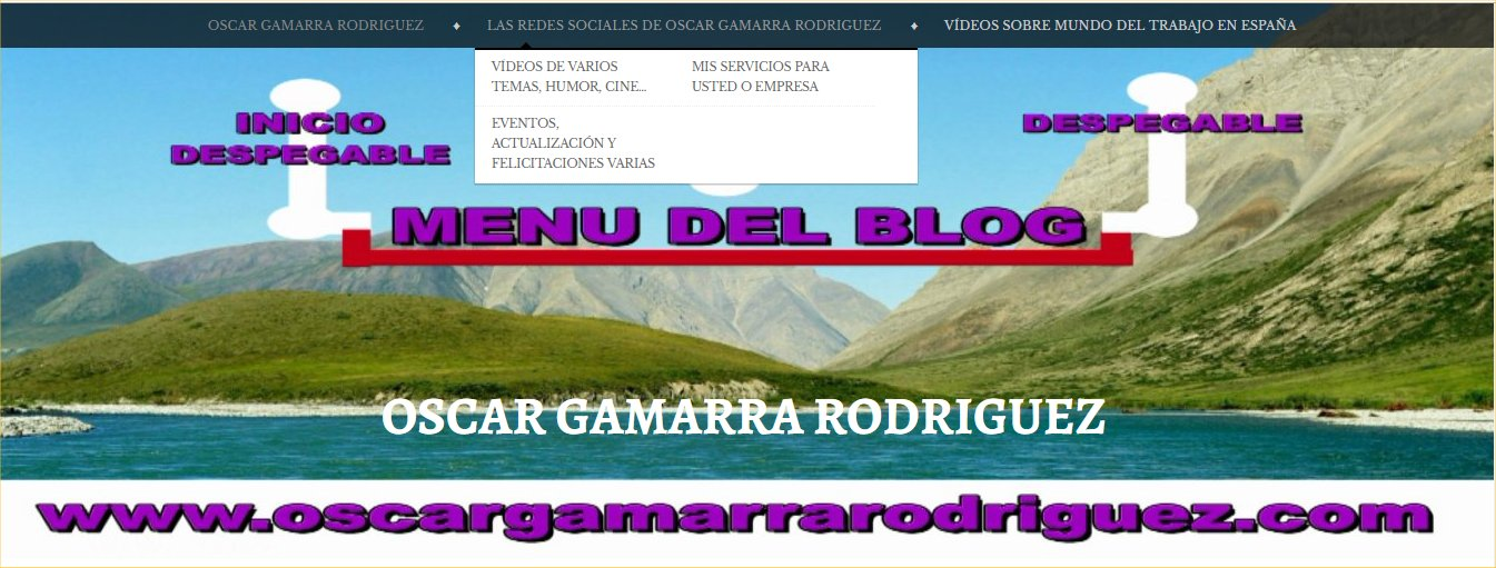 MENU DE REDES SOCIALES BLOG