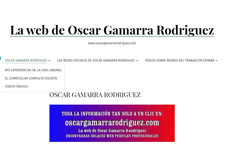 foto de menu de Oscar Gamarra